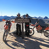 All of us make it to Imogene Pass.  Our last two rides here included threatening weather.  Today we can relax and explore this area at a leisurely pace.  Sarah is on left, Jimmy on right.