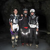 The second side road takes us into the Hidden Treasure Mine complex.  The riders stand on an ice pack inside the mine.