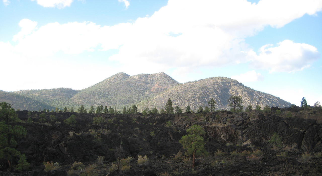 Ash Cones were obvious as we neared Flagstaff from the north.