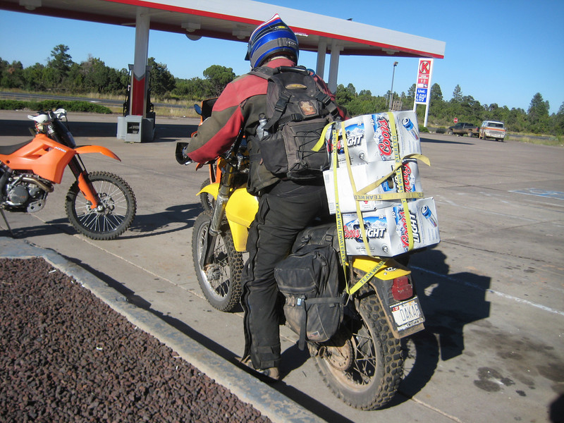 Can your dual sport ride carry 75lbs of beer? This TT500 can.