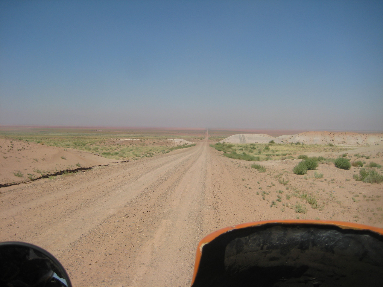 Hopi Reservation.....long, straight, dusty road.