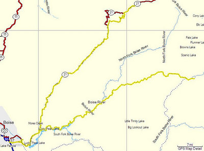 Map, Day 11. Lowman, ID to Atlanta, ID.