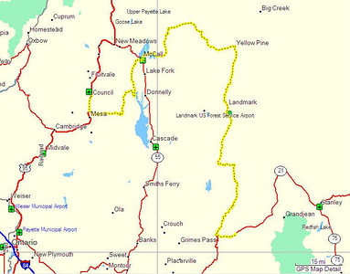 Map, Day 10. Council, ID to Lowman, ID.
