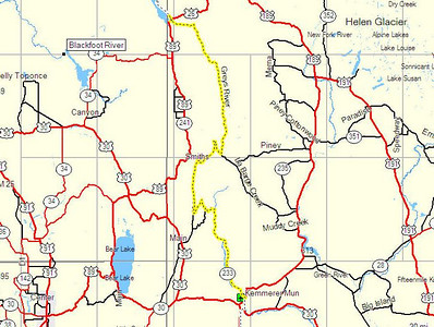 Map, Day 3. Kemmerer, WY to Alpine, WY.