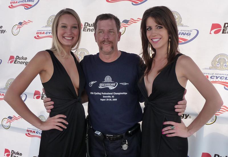 John Ormand and podium girls...