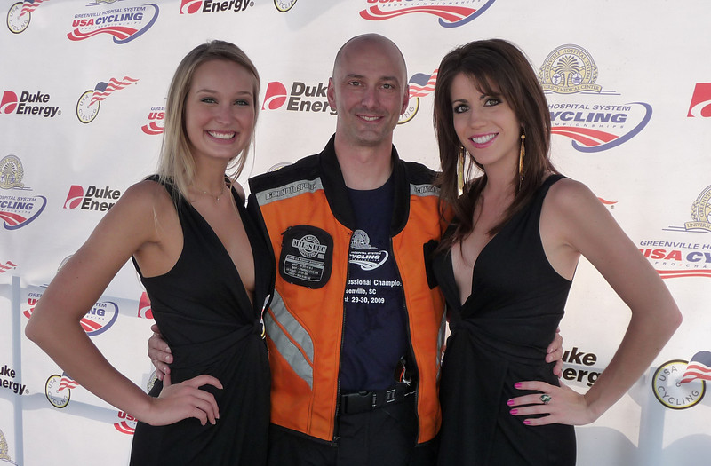 Trey Smith and podium girls...