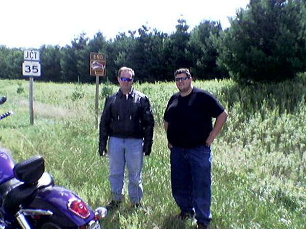 End of WI Rustic Road #101 which runs from Osceola to just east of Taylors Falls.  Aug 20, 2006.  It's a cellphone camera, so ignore the quality.