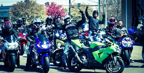 SportBikes Inc Shut the City Down Ride 2013