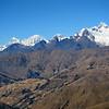 La fabulosa vista de la mañana del 23-07 de la Cordillera Blanca que en vivo parece un helado de coco.
