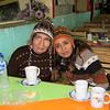 En un restaurant camino a Pomabamba, tomando solo manzanilla porque habíamos almorzado mucho.  En la puesta mi madre y yo.