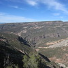 Looking into the Black Canyon at the Gunnison River.