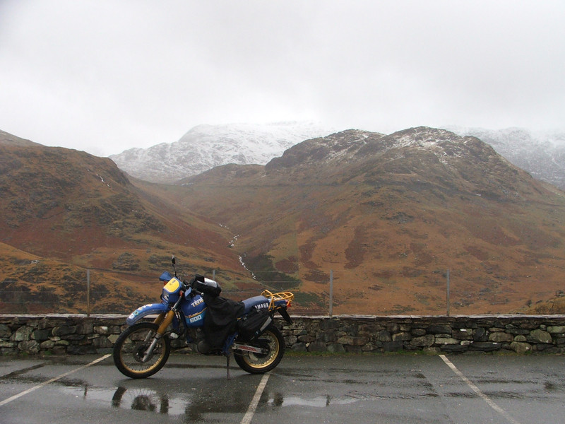 Chris Barns' Yamaha Tenarra at Beddgelert to Llanberis. Nov. 5, 2005