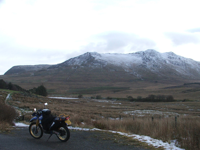 Chris Barns Trawsfynydd to Bala ride with his Yamaha Tenerra 660. November 5, 2005.