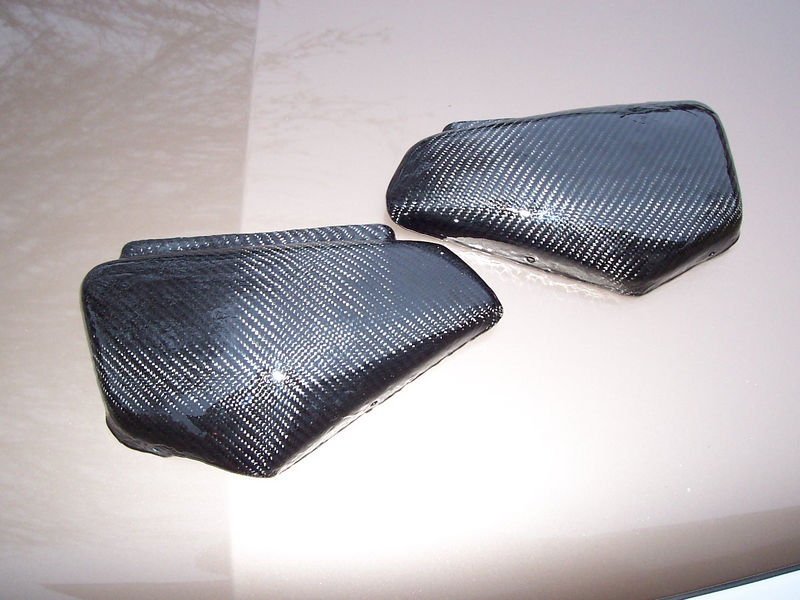 New carbon fiber side covers!<br /> The old covers had developed cracks so we cast molds and made new ones.