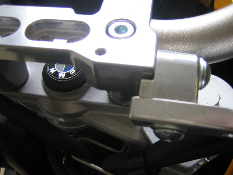 Left side clamp end from above