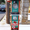 Very old gasoline pump. Haag's Hotel, Shartlesville, PA