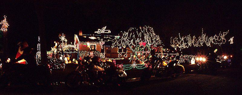 Christmas lights ride 2003