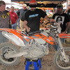 A vendor installs a custom map in to this KTM.