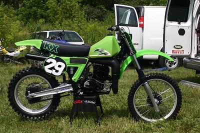 Super-secret pre-production '09 KX 950 XXRXR. That whole water-cooling fad has just about run it's course.