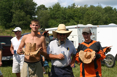 The podium, left-to-right: Bobby Kau took1st Place B Class, Dirty Dan (aka Sean) overalled it again, and Ryan Moss walked away with the 1st Place A Class custom trophy. That's Bob Kau in the far left background....but photographs don't have sound ;-)