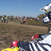 Jeff Stientjes looks on as the A Class riders take off for the woods...