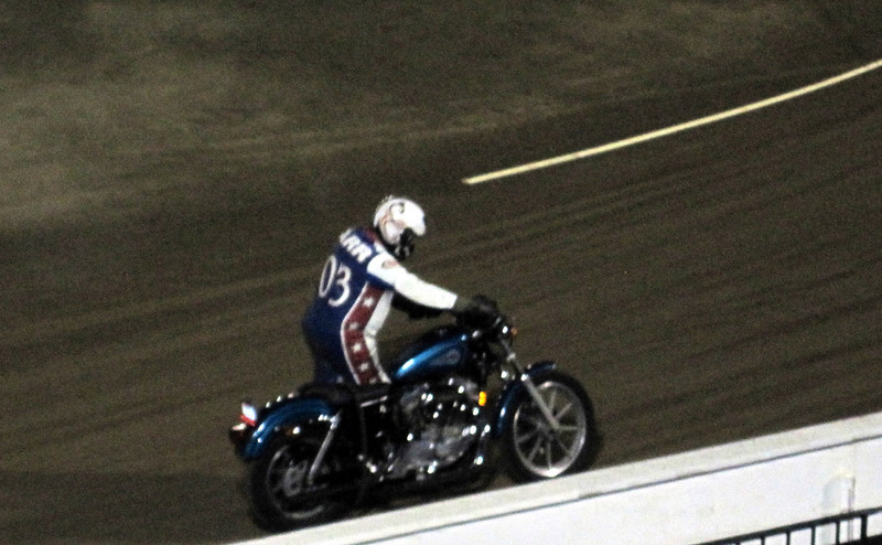 Pushing my bike off the track. My drive belt broke just as I crossed the finish line. I still got third place!