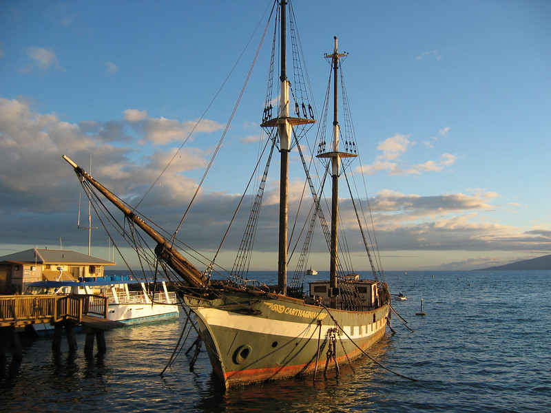 """The two-masted brig """"Carthaginian II"""", a replica of an 19th Century island """"lugger"""" like the ones that brought the missionaries to The Islands. Old Lahiania Harbor, Maui Ride Report here <a href=""""http://www.advrider.com/forums/showthread.php?t=217718&pp=15"""">http://www.advrider.com/forums/showthread.php?t=217718&pp=15</a>"""