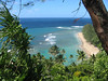 """One of the Views from our Hike, Ke'e Beach. Located literally at the end of the road,  The famed Kalalau Trail begins at the western end of the beach. Several movies and min-series have been filmed here such as The Thorn Birds and  Castaway Cowboys. Ride Report here <a href=""""http://www.advrider.com/forums/showthread.php?t=217718&pp=15"""">http://www.advrider.com/forums/showthread.php?t=217718&pp=15</a>"""