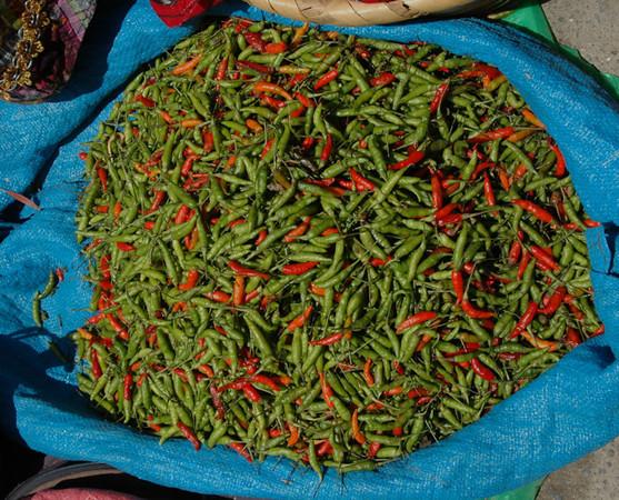 Chile en mercado de Totonicapán