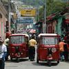 Tuk tuk el transporte mas común en Totonicapán