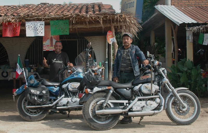 My Harley escort into Salina Cruz