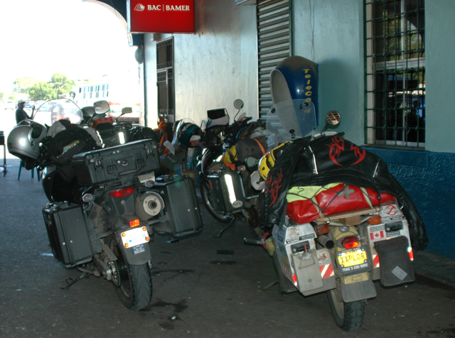 Our motos at Honduras border