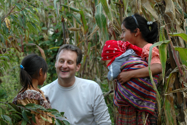 Mike & new friends, rural Guatemala
