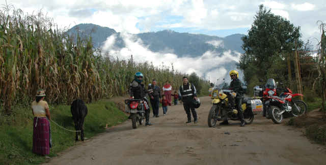 Riding the back roads in Guatemala
