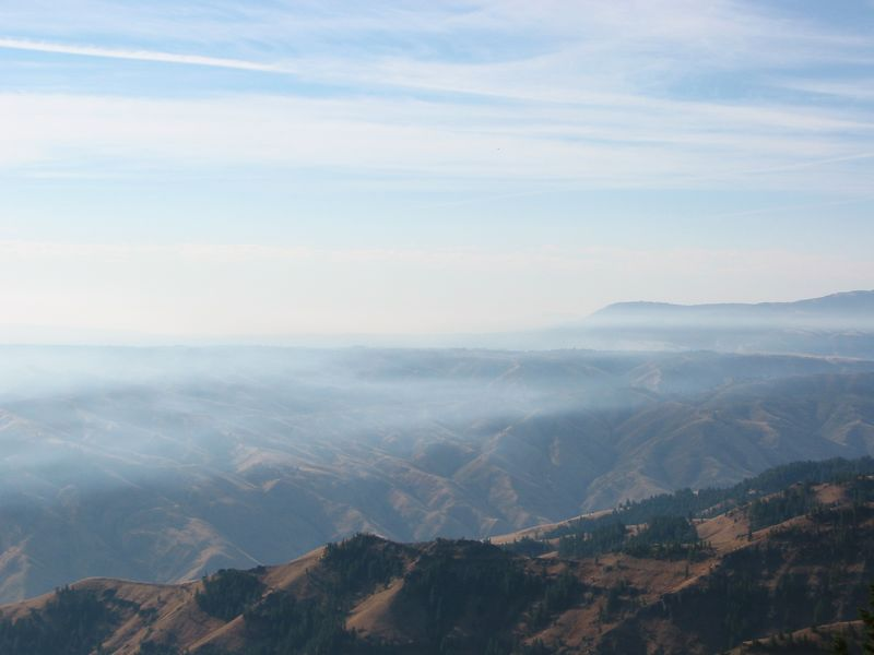 View from Hell's Canyon Overlook.