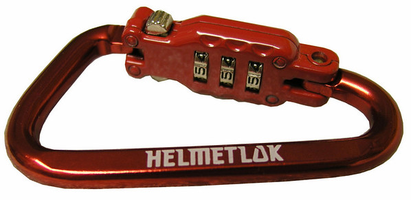 Feb 2011 - HelmetLok is now available in red.  Specify black or red when you order, otherwise you'll get black.