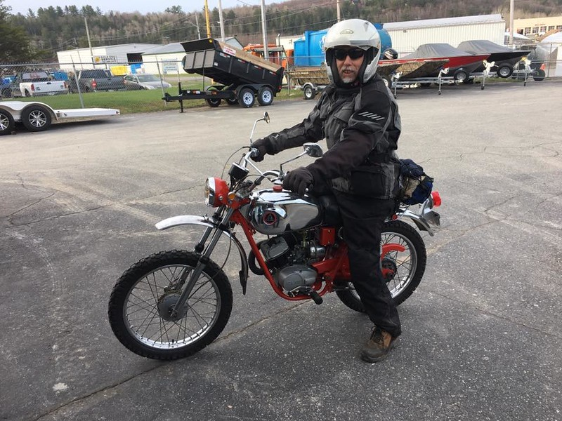 First commute to work on the Hodaka, Kevin took my picture.