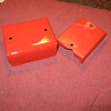 On the right is the original electrics cover made of plastic. On the left is the one I made to save the original part.