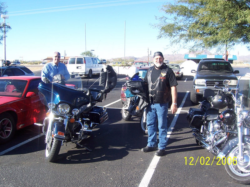 Steve treated us to a nice breakfast in the cafe. These guys proved that Harley riders are not as bad as they look.