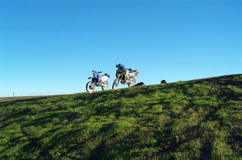 Green hills and nice bikes.
