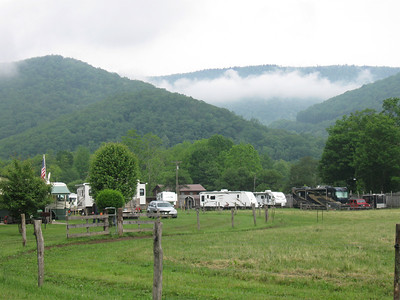 Typical Durbin haze over the 'fancy' side of the campground.