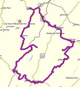 Saturday's 172-mile route.
