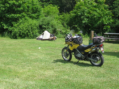 Set up along the East Fork of the Greenbrier River in Durbin, WV.