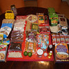 "Nicole's food spread for trip and the Horizon's Unlimited ""Dehydrated Food"" cooking class. This and more all fit on my DRZ."
