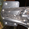 Enduro Engineering heavy-duty license plate holder, from the bottom.