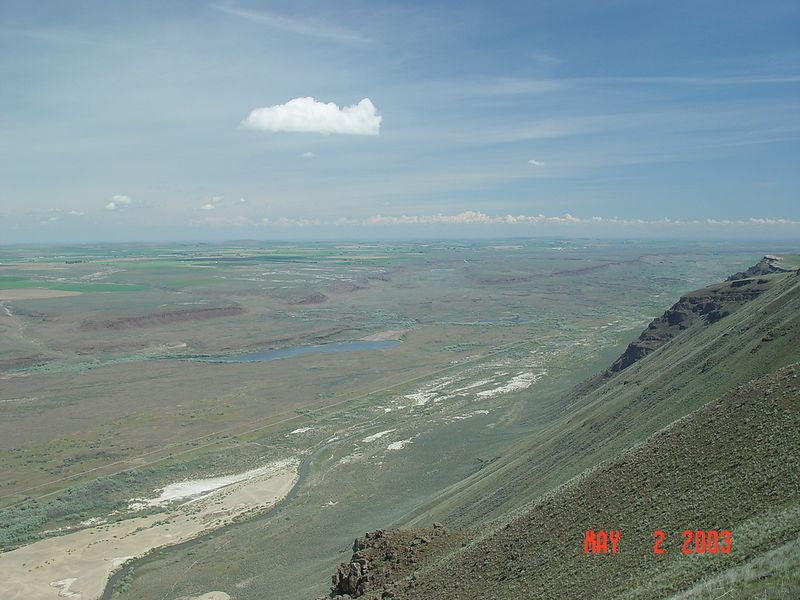 You can see the curvature of the earth from this ridge top