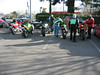 After breakfast in the Perkos parking lot. Gearing up for a ride on Hwy 36 west.