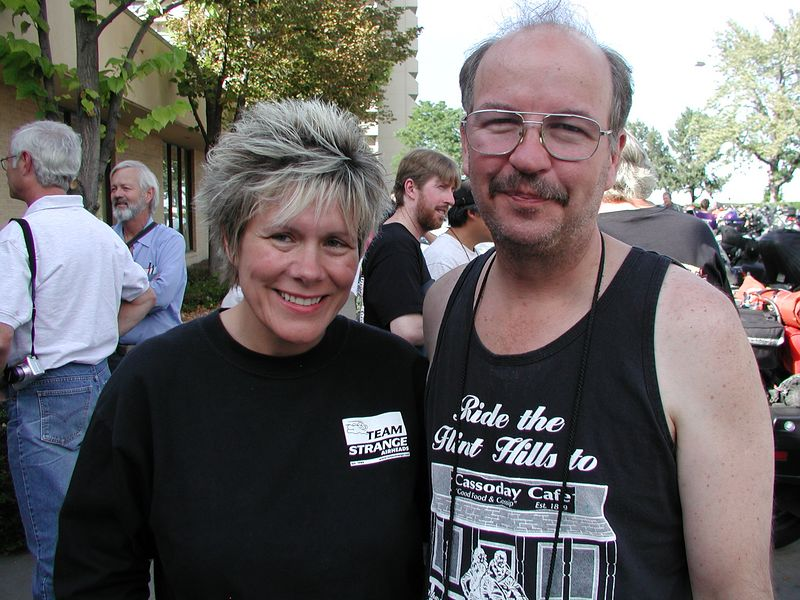Critter (and Deb) sighting at the event - do they look sick to you?