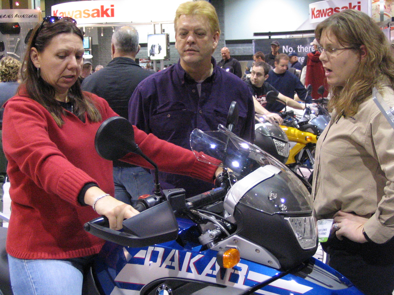 On the bike she really wants, I think ... an F650 Dakar.