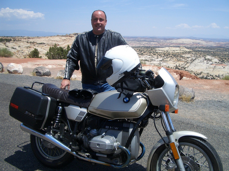Michael on a stop on the way to Escalante.